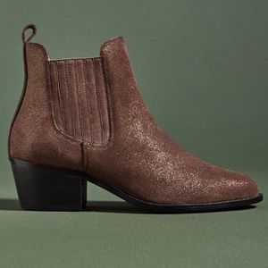 Anthropologie Size 7 Metallic Chelsea Boot